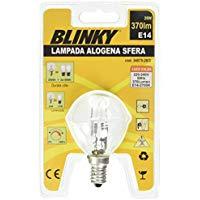 Blinky 3407520 Lampade Alogene Sfera, Calda, E14, 28 W, 370LM