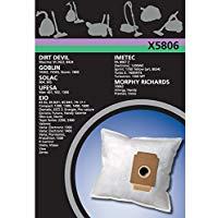 Electrolux, X5806, Sacchetti per aspirapolvere in materiale sintetico, 4 pz, compatibili con EIO topo