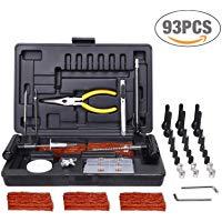 Kit per 93pcs Riparazione Pneumatici, TECCPO Professional Kit di Riparazione, per la Riparazione di Forature per Pneumatici con
