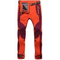 YiLianDa Pantaloni Funzionali Softshell Invernali da Uomo Slim Fit Impermeabili e Traspiranti per Trekking e Sport all'aperto: A