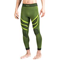XAED - pantaloni a compressione, da uomo, Large, colore nero - lime: Amazon.it: Sport e tempo libero