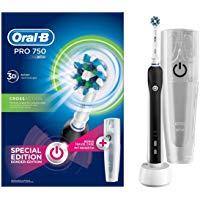 Oral-B Pro 750 Crossaction Spazzolino Elettrico Ricaricabile, Bonus Pack: Amazon.it: Salute e cura della persona