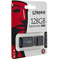 Kingston DT100G3-128 GB DataTraveler 100 G3, USB 3.0, 3.1 Flash Drive, 128 GB, Nero: Amazon.it: Informatica