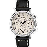 Timex Orologio Cronografo Quarzo Uomo con Cinturino in Pelle TW2R42800: Amazon.it: Orologi