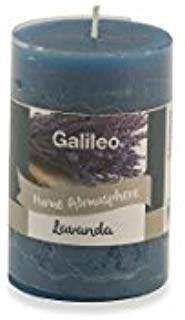 Galileo Casa Lavanda Candela Profumata, Cera, Blu, 4,8x4,8x7,5 cm