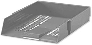 5 Star Letter Tray High-impact Polystyrene Foolscap Grey Ref CP0435SGRY