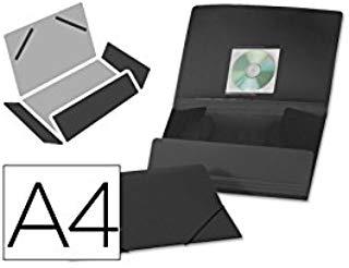Beautone Folder gomma lembi 38725 in polipropilene, formato A4, colore: nero