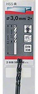 Bosch 2 608 596 788, Punta per Trapano Elicoidale, 2 pezzi