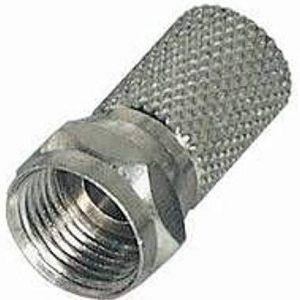 Kabelmeister F maschio Twist-On, nichelato, 20 mm