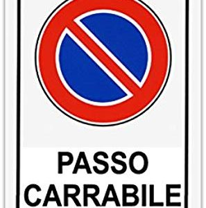 CARTELLO 30X20 PASSO CARRABILE