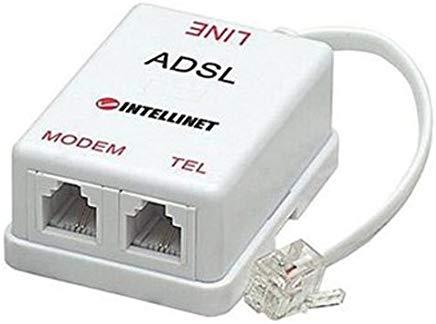 Intracom PC-0754 Filtro ADSL, Plug Rj11 Bulk, Bianco