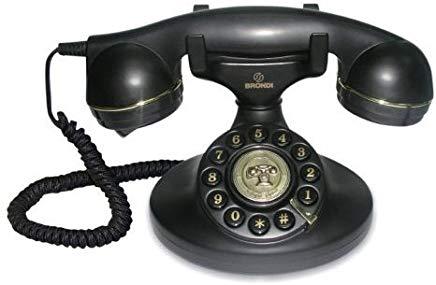 Brondi Vintage 10 Black Telefoni domestici, Nero [Francia]