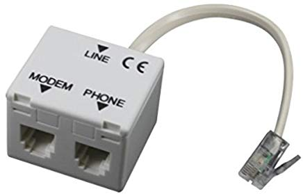 Atlantis A01-AF2 Splitter RH11, Filtro RJ11 ADSL, Plug RJ11 per Connessione alla Linea Telefonica, Jack RJ11 per Connessione ADS