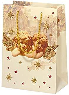 Susy Card 40001616 Natale della borsa regalo 16 X 22 X 8, motivo: romantic Angels