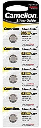 Camelion SR59 W 1.55 V batteria a bottone in ossido di argento (Confezione da 5)