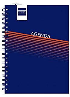 Finocam mini-i Lisa - Agenda settimanale, catalana, colore: blu