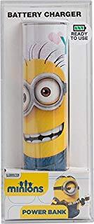 Tribe Minions 2600 mAh Power Bank Caricabatteria Portatile Universale USB Batteria Esterna per tutti Smartphone Cellulari - Mini