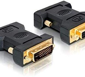 DeLOCK Adapter DVI 24+1 male-female DVI-D Nero