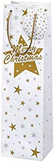 Susy Card 40001654 sacchetto regalo di natale, motivo: Stardust, 10,5 x 36 x 10 cm.