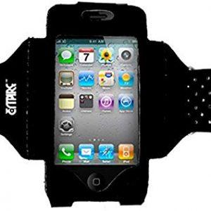 Empire - Fascia da braccio regolabile per Apple iPhone 4-4S, colore: nero