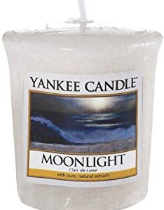 YANKEE CANDLE Samplers Candele Votive Moonlight, Cera, Blu, 4.6x4.5x5.3 cm