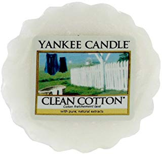 yankee candle Clean Cotton Tart da Fondere, Cera, Bianco, 2x5.7x5.5 cm