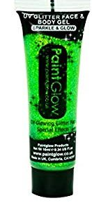 SMIFFYS Smiffy's 46049 - UV Body Glitter Gel 10Ml Verde, Taglia Unica