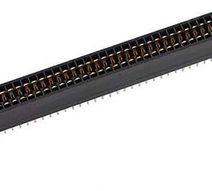 sourcing map Nero Doppia Fila 72 Pin Passo 2,54 mm PCB Board Socket intestazioni
