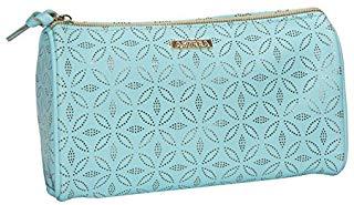 Sanjo Astrea stile borsetta per cosmetici con motivo oro, 23 cm, blu