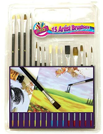 Set Di Pennelli Artbox Con Manico In Legno (Pacco da 15)