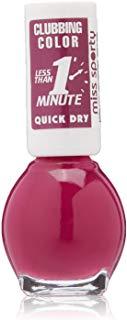 Miss Sporty Clubbing colori ad asciugatura rapida per unghie, 7 ml, Wild viola