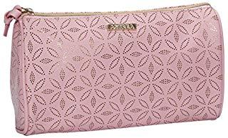 Sanjo Astrea stile borsetta per cosmetici con motivo oro, 23 cm, rosa