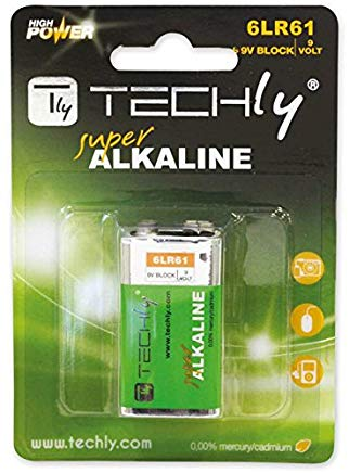 Techly 307032 Blister 1 Batteria High Power Alcalina 6LR61 9V