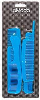 Lamoda assortiti pettini confezione famiglia, nero, da 12 a 20 cm