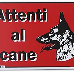 """PUBBLICENTRO SPA CART.""""ATTENTI AL CANE"""" 20X30PL"""