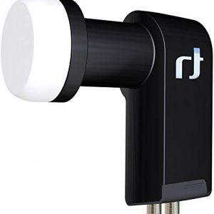 Inverto Black Ultra Twin HGLN 40mm LNB (diametro feed 40 mm) per ricevitori satellitari analogici e digitali, colore: Nero