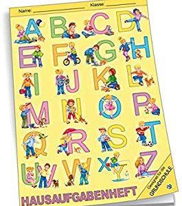 Hausaufgabenheft Grundschule ABC: A5, 96 Seiten, mit extra starkem Klarsichtumschlag