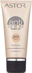 Astor, Anti Shine Make Up, colore 201 sabbia, 1er Pack (1 x 30 ml)