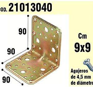 WOLFPACK 21013040 - Supporto per legno, angolo, 90 x 90 x 90 mm