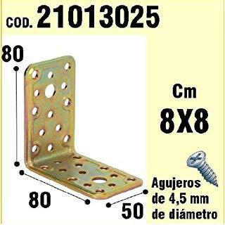 Wolfpack 21013025-Supporto per legno, angolo, 50 x 80 x 80 mm