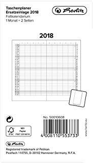 Herlitz 50010608 tasche Planer Cuscinetto di ricambio 2018