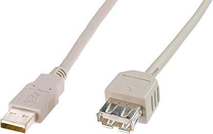 Digitus AK-300200-018-E cavo USB 1,8 m USB A Maschio Beige