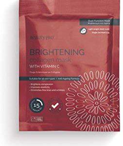 BeautyPro BRIGHTENING Collagen Sheet Mask With Vitamin C (23g)