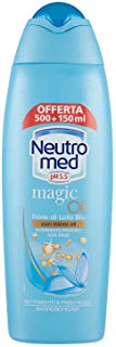 Neutromed - Bagnoschiuma Nutrimento & Freschezza, Magic Oil Fiore di Loto Blu con Micro Oli - 650 ml
