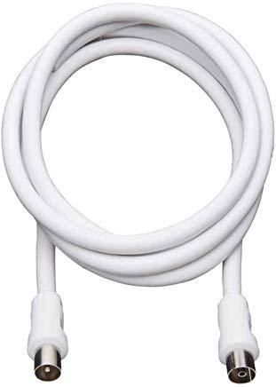 REV Ritter - Cavo di collegamento dispositivi coassiale RG6, 1,5 m, colore bianco, 009311103102