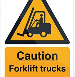 Fixman 469334 rigid caution Forklift Trucks Sign 200 x 300 mm