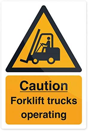 Fixman 469334 rigid caution Forklift Trucks Sign 200 x 300 mm