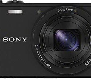 Sony DSC-WX350 Fotocamera Digitale Compatta Cyber-shot, Sensore CMOS Exmor R da 18.2 MP, Obiettivo Sony G, Zoom Ottico 20x, Nero