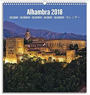 Grupo Erik Editores kalm1809 - Calendario turistico medio 2018 con motivo Alhambra
