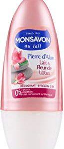 Monsavon - Deodorante donna, Allume di pietra palla & Lotus 50ml, 2 pezzi